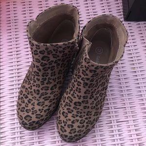 Cat & jack toddler girls 12 cheetah boots NEW